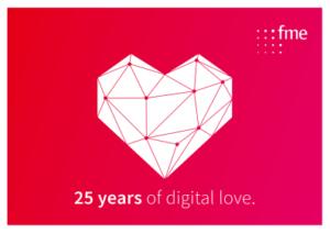 Logo: 25 years of digital love.